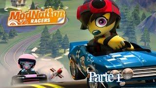 ModNation Racers - Gameplay - Parte 1 - Español - PSP