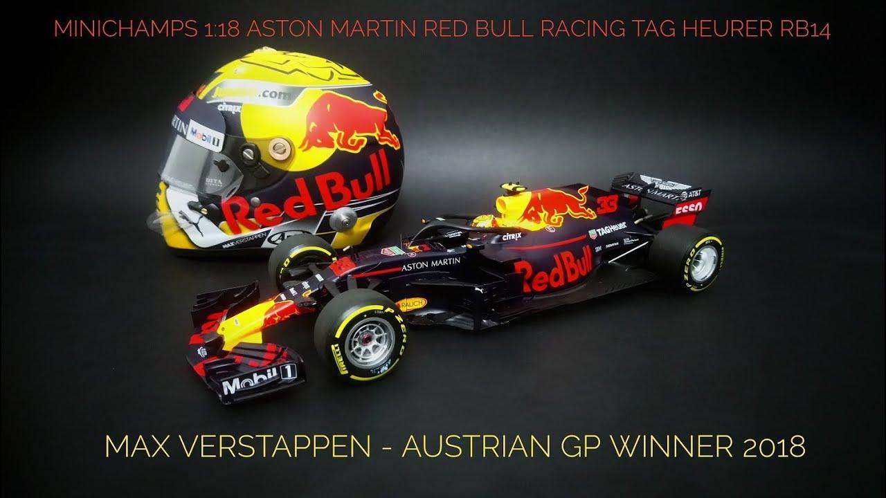 REVIEW Minichamps 1:18 Red Bull Racing RB14 Max Verstappen 2018 Austrian GP diecast modelcar