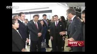 الرئيس الصيني يزور معهد بحوث الجرافين بجامعة مانشستر