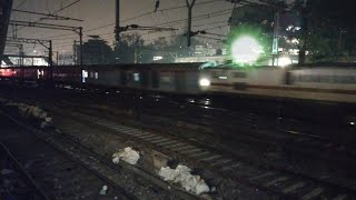 OHE Spark In High Speed WAP-7 With Gujarat Mail