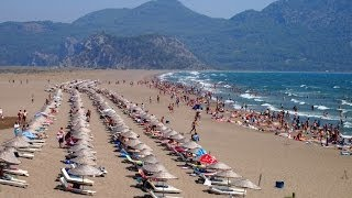 Отдых В Турции. Пляж Изтузу - Iztuzu Beach(Эта четырехкилометровая песчаная лента шириной 150 метров в устье Дальян реки, что в 20 минутах пути от одноим..., 2014-07-04T13:52:53.000Z)