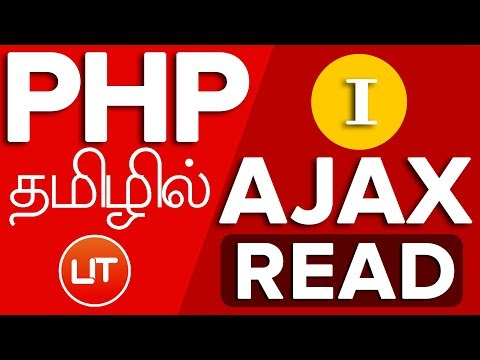 AJAX PHP jQuery JSON tutorial CRUD in tamil - 01