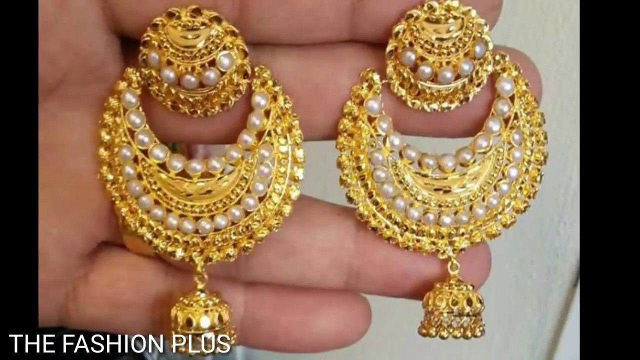 Gold Earrings Designs Images