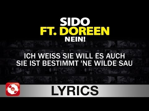 SIDO FEAT. DOREEN - NEIN! -  AGGROTV LYRICS KARAOKE (OFFICIAL VERSION)