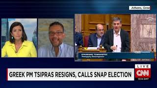Greece PM resigns; calls for snap elections