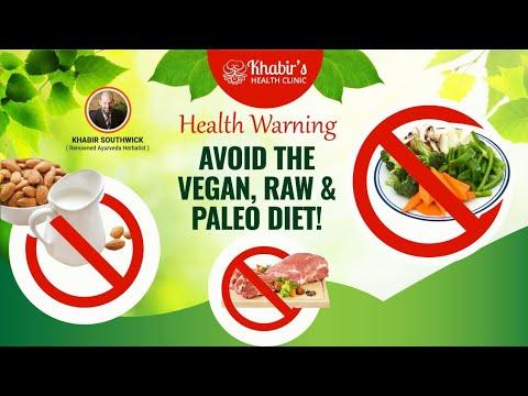 HEALTH WARNING: DO NOT FOLLOW A VEGAN, PALEO OR RAW DIET!!