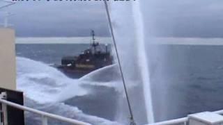 Sea Shepherd`s スティーブ・アーウィン号が妨害行為