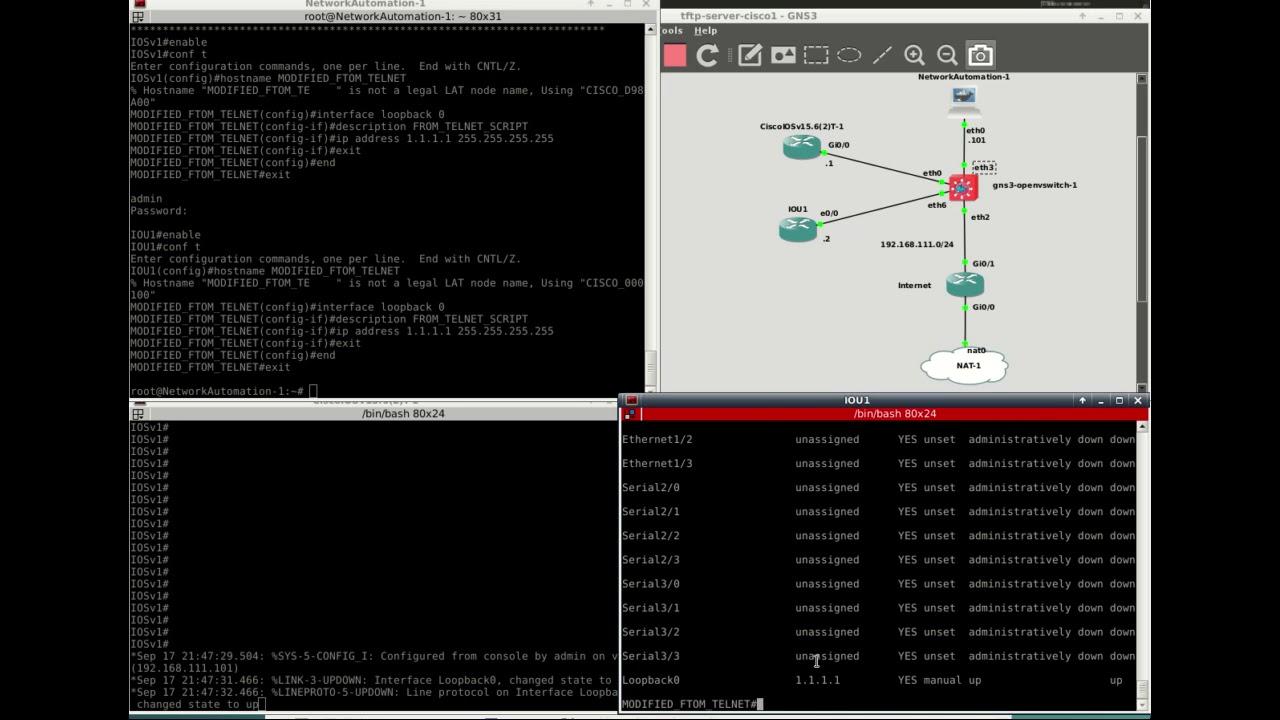 Flash labs: Basic Python script to telnet to a Cisco router