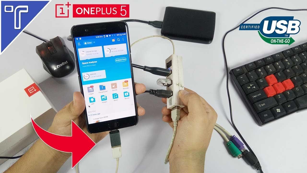 Does The Oneplus 5 Support Usb Otg Youtube Flashdisk Atau Flashdrive Samsung Type C Original