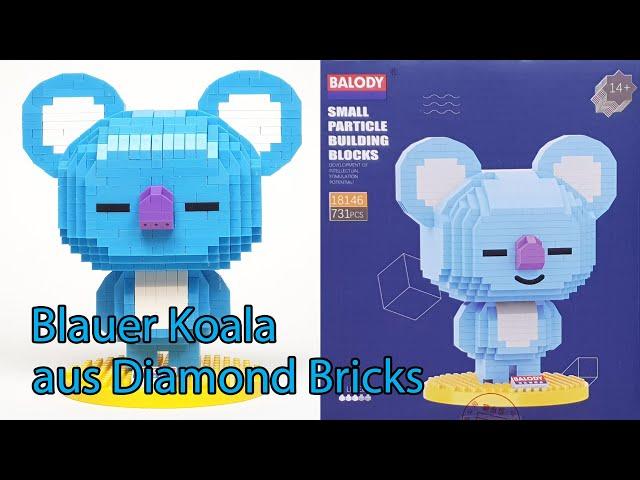 Koya (BT21) Blauer Koala von Balody 18146 (Diamond Bricks)