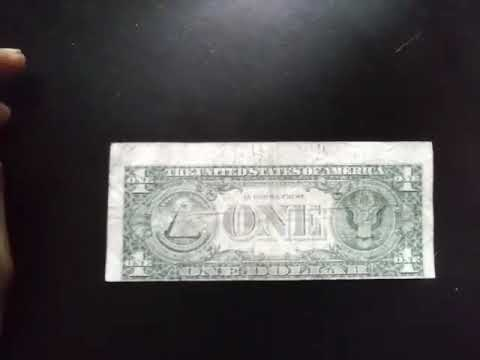 $1 Dollar Bill Misprint And Error