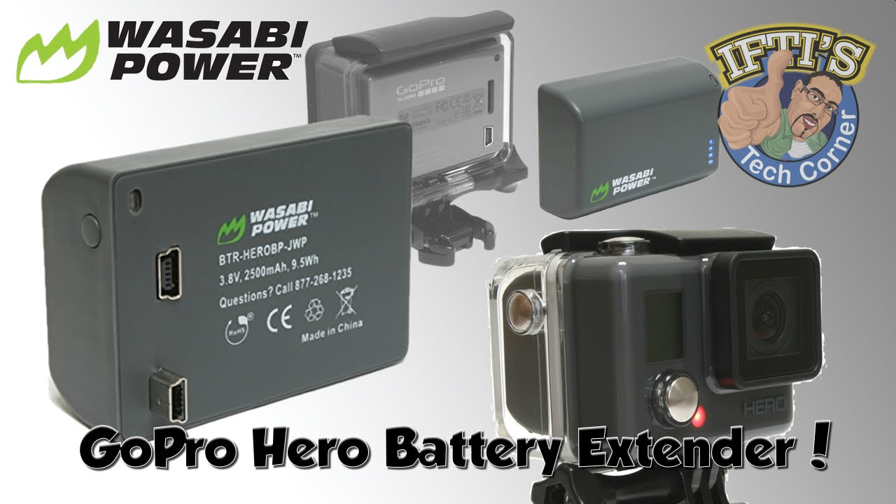 wasabi power extended battery for budget gopro hero. Black Bedroom Furniture Sets. Home Design Ideas