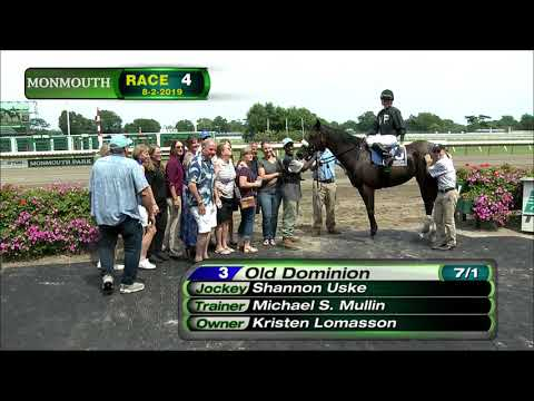 video thumbnail for MONMOUTH PARK 8-2-19 RACE 4