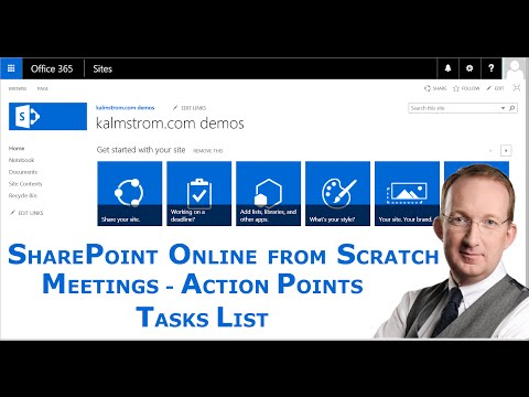 Action Points List Template - SharePoint Meetings Management