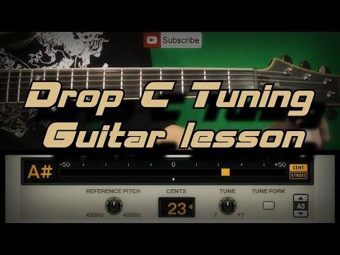 Как настроить гитару в Drop C / Drop C Tuning Guitar Lesson