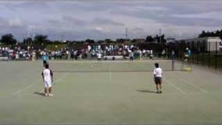 全日本社会人ソフトテニス選手権 男子4回戦 2-2