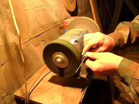 Как правильно точить ножи на точильном станке видео