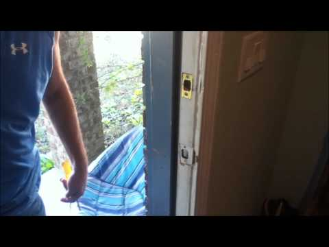 how to adjust an exterior door