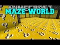 Minecraft: MAZE WORLD (LUCKY BLOCK BIOME & ORESPAWN BIOME!) Mod Showcase