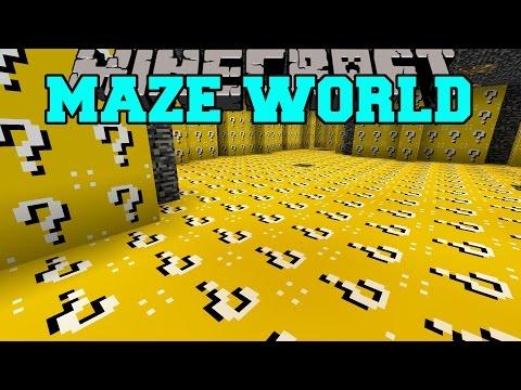 Minecraft: MAZE WORLD (LUCKY BLOCK BIOME &...