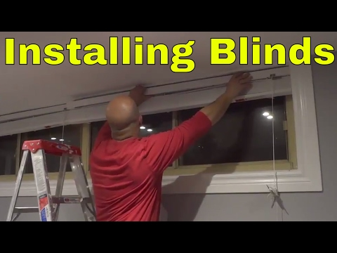 Installing Faux Wood Blinds-WITH A SLIGHT BLOOPER