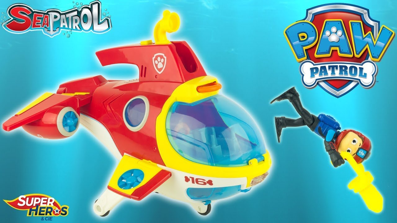Paw Patrol Sea Patrol Ryder S Sub Patroller Submarine Toy Review Kids Patrula De Cachorros