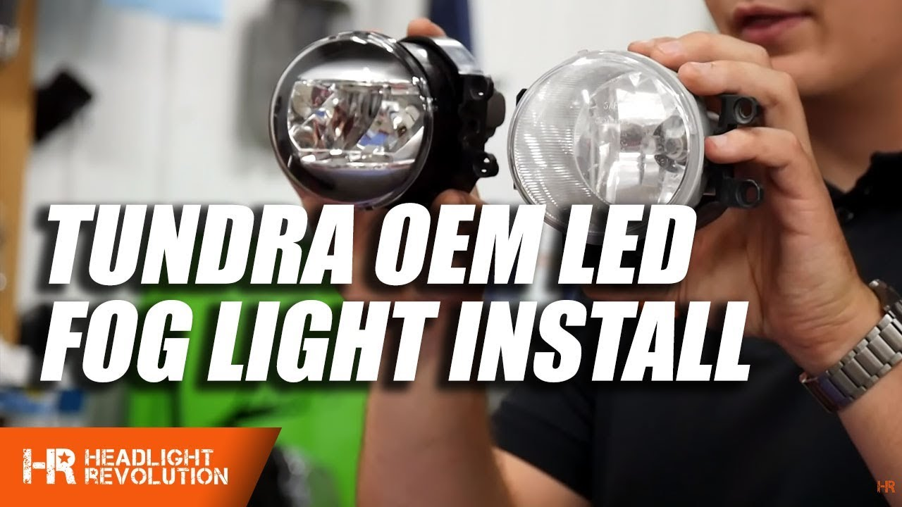 hight resolution of toyota tundra 2014 2018 led oem fog light install headlight revolution