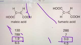 maleic acid vs fumaric acid