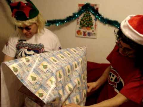 Wrap Christmas gifts 80s glam metal style tutorial Part 3