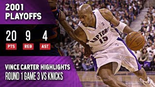 Vince Carter Highlights Playoffs Game 3 Raptors vs Knicks (04.29.2001) 20pts, Brink Of Elimination!