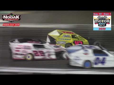 Repeat Nodak Speedway IMCA Sport Mod A-Main (8/25/19) by