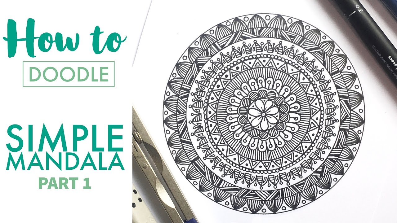 HOW TO DOODLE: Simple mandala - part 1 - YouTube