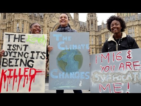 Donald Trump & Theresa May Spell Climate Disaster say UK Protesters