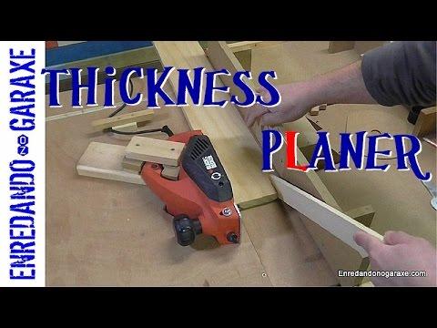 Homemade thickness wood planer machine