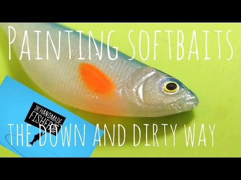 Painting Soft Baits The Down And Dirty Way