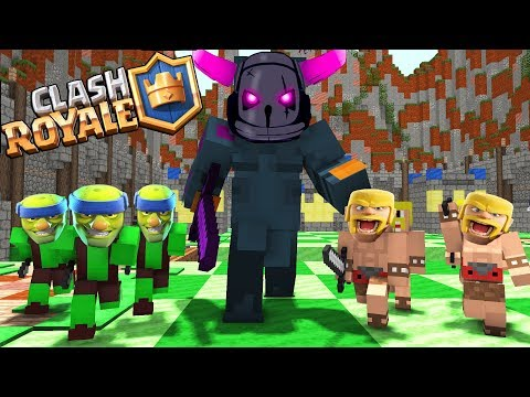 Monster School : Clash Royale Epic Legendary Deck Battle - Minecraft Animation