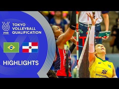 BRAZIL vs. DOMINICAN REPUBLIC - Highlights Women | Volleyball Olympic Qualification 2019