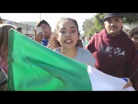 No queremos Pizza! Queremos Frijoles! Marcha en Tijuana