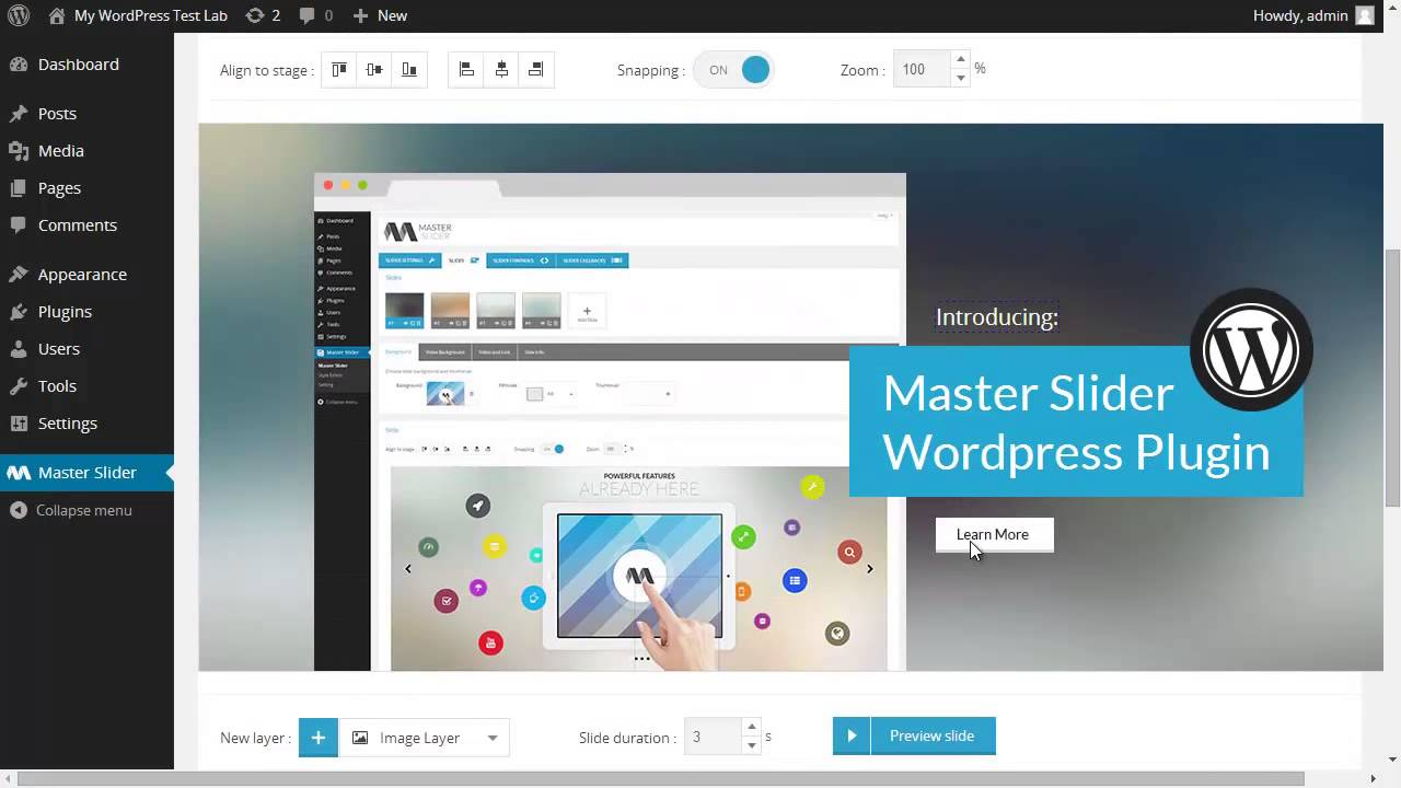 Master Slider WordPress Plugin | Working with Layers