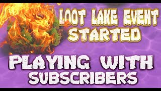 FORTNITE - LOOT LAKE EVENT STARTED VOLCANO COMING - PLAYING WITH SUBS LIVE - BEST GUESS COUNTDOWN
