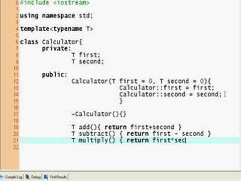 C++ Tutorial #11, Templates (1)