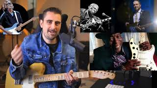 Rock Me Baby - Eric Clapton, BB King, Jimmy Vaughn, Buddy Guy - Guitar Lesson - Crossroads Festival
