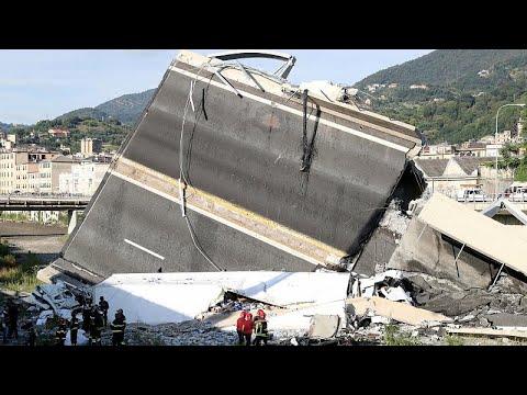 Queda da ponte em Génova provoca quase 40 mortos