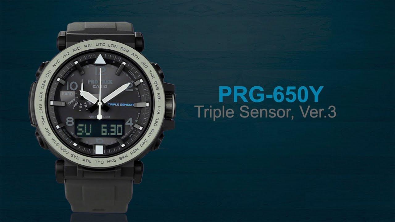 e87548096 CASIO PRO TREK PRG-650Y product video (Horizontal ver.) - YouTube