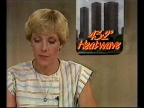 atv-10 Eyewitness News 1983 on Melbourne dust storm & heatwave