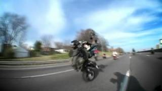 No Front End Bike on the Highway