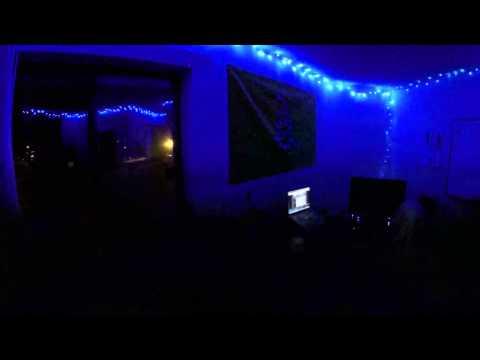 Christmas Lights Flashing to Music