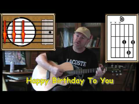Happy Birthday To You - Acoustic Guitar Lesson - (easy) - YouTube