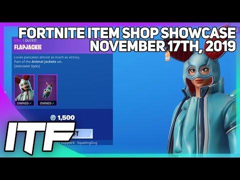 Fortnite Item Shop FLAPJACKIE IS BACK! [November 17th, 2019] (Fortnite Battle Royale)