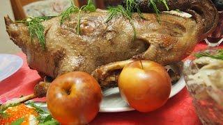 Гусь с гречкой грибами и печенью к Новому Году или Рождеству